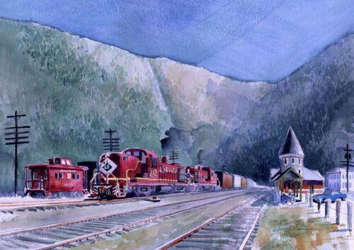 Jim Thorpe Caboose PA Lehigh Valley RR ALCOs James Mann Train Art Prints