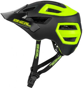 O-039-NEAL-LUCCIO-ENDURO-MOUNTAIN-BIKE-MTB-CASCO-58-61cms-LARGE-XL-Giallo-Nero