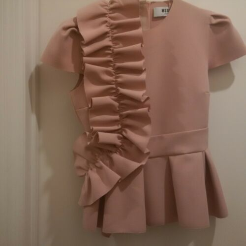 MSGM Pink Ruffle Top