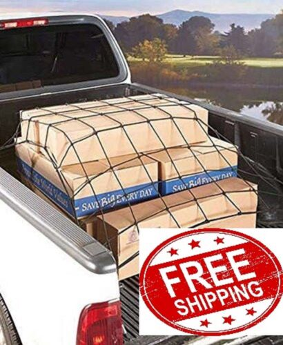 """Cargo Net Bed Tie Down Hooks for Truck Pickup Compact Size 60/"""" x 78/"""" BRAND NEW"""