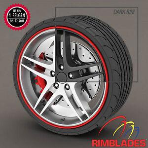Rimblades-FELGENSCHUTZ-amp-Styling-ROT-Felgenringe-Felgenschutzringe-Rim-Protector
