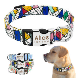 Nylon-Collar-de-para-perro-Personalizado-Collar-grabado-para-perro-Dog-Collar