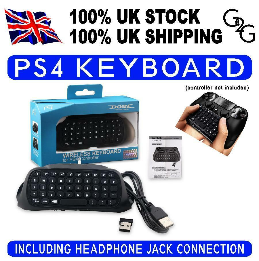 PS4 2.4G Mini Wireless Chatpad Message Text Keyboard for PS4 Controller UK