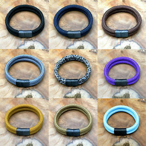 Segeltau-Armband-BRANDNEU-034-Surfer-Style-034-Magnetverschluss-Handmade-Herren-Frauen