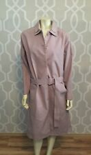 Lacoste Coat Trench Belted Nude Blush Pink Runway Collection Cotton US 6 EU 38 M