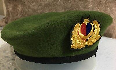 Türk Jandarma Harici Subay Beresi  Gendarmerie Offizier Beret//Barett// MitLogoNEU