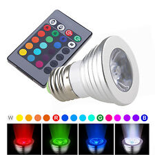Magic 16-Color Changing Night Light Bulb Party Disco DJ Lamp E27 w/ Remote Contr