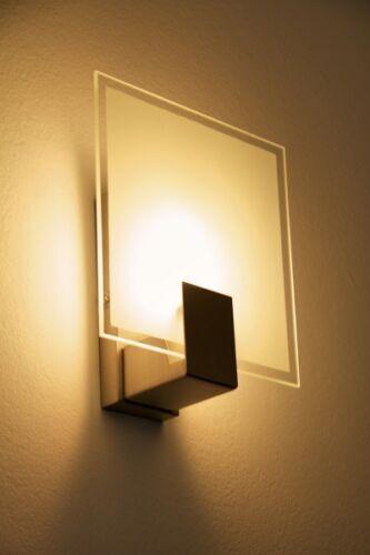 Design Leuchte Wandlampe Spot Flur Schlaf Wohn Zimmer Büro Strahler Glas eckig