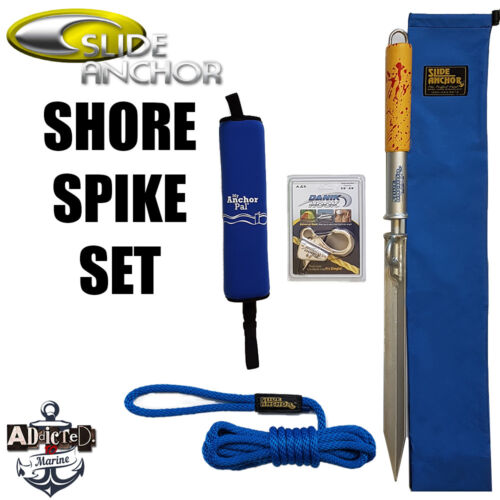 Slide Anchor Shore Spike Large Combo 15ft Docking Rope Danik Hook My Anchor Pal!