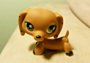 Monopoly Dog LPS Toy Littlest Pet Shop Dachshund With snowflake Eyes no magnet