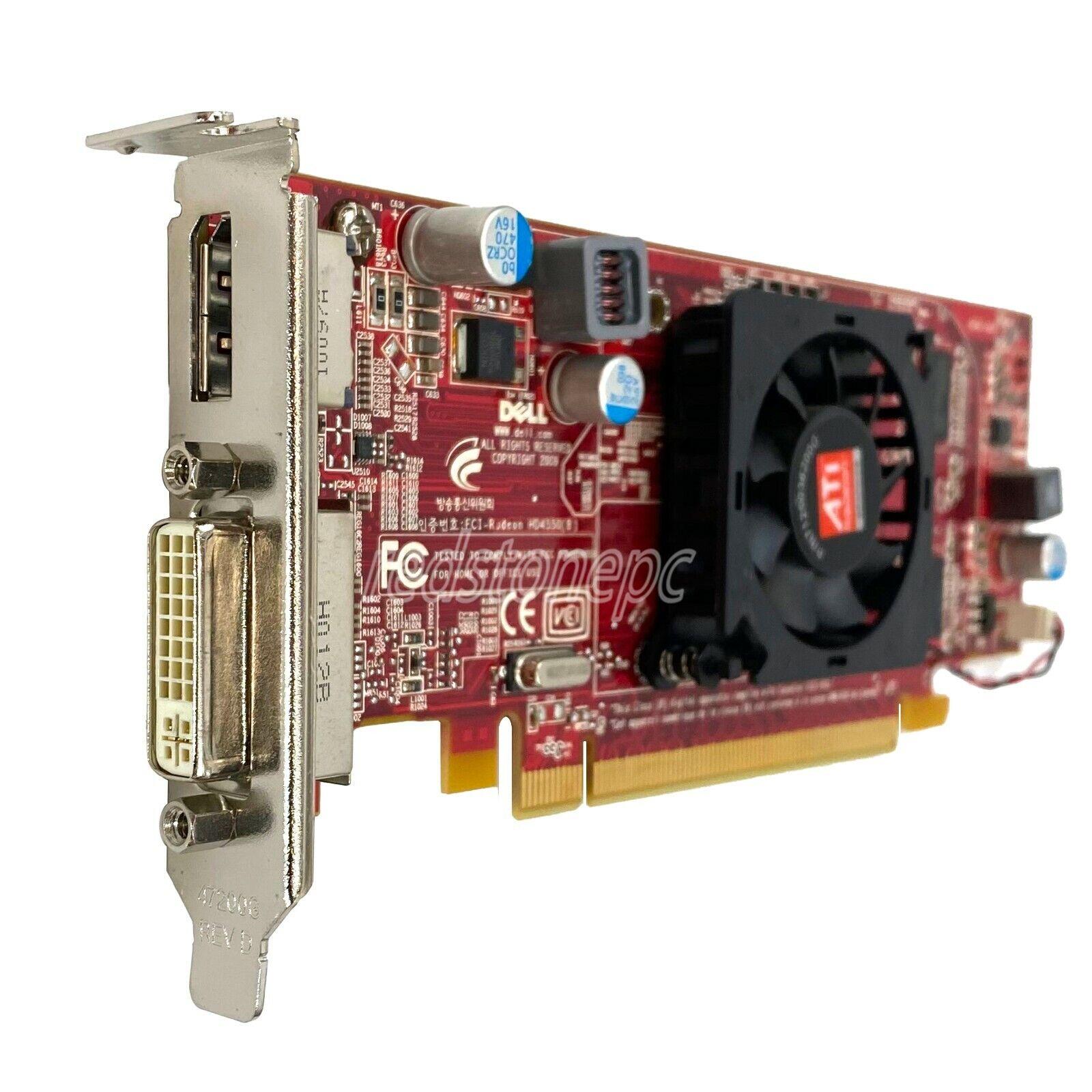 DELL ATI Radeon HD 4550 512 MB GDDR3 DVI Display Port Video Card 0C7MG0 C7MG0