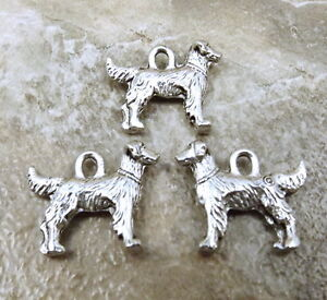 3-Pewter-GOLDEN-RETRIEVER-Dog-Charms-5482