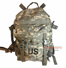 US ARMY ACU ASSAULT PACK w Back STIFFNER 3 DAY MOLLE II BACKPACK BUG OUT BAG VGC