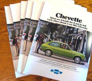 1977-Chevrolet-Chevette-Sales-Brochure-LOT-6-pcs-Rally-Sport-Scooter-Sandpiper