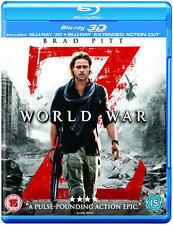 WORLD WAR Z - 3D - BLU RAY - EXTENDED CUT - NEW / SEALED - UK STOCK