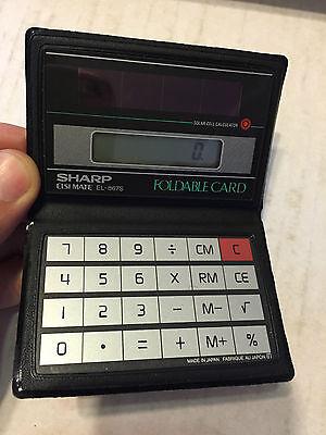 Sharp Elsi Mate El 867s Calcolatrice Solar Vintage Perfect!! Rinfrescante E Arricchente La Saliva