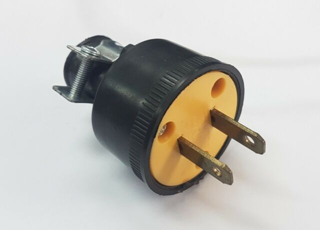 Heavy Duty Male Replacement Electrical Plug 2 G 15a 220v Free Ship