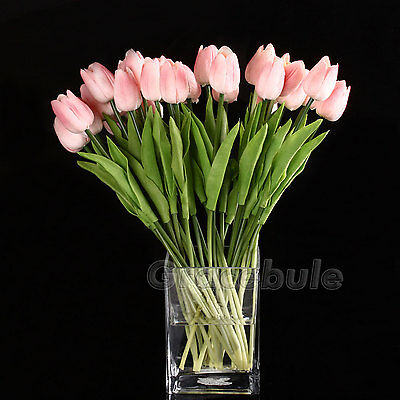 Tulip Flower For Wedding Bouquet 10Head Latex Real Touch Best Quality Home Décor