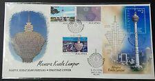 1996 Malaysia Menara Kuala Lumpur Tower Stamps & Mini-Sheet on one FDC (Melaka)