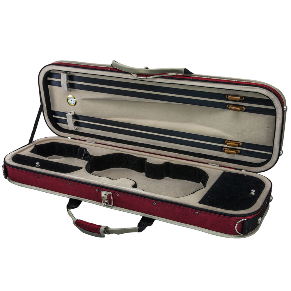 SKY 4 4 Full storlek Violin Oblång Case Sports Style Lightweight with Hygrometer