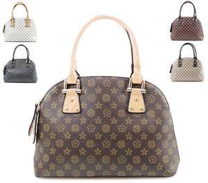 3aa16af46ba Details about LADIES WOMENS CHECK PATTERNED LARGE HANDBAG DESIGNER SHOULDER  EVENING TOTE BAG