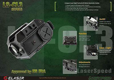 Green Laser Sight Tactical Light Combo CREE LED 225 Lumen Pistol Rifle Shotgun