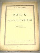 EMILIO O DELL EDUCAZIONE Estratti G G Rousseau G Pomarici Giova Mario Federico