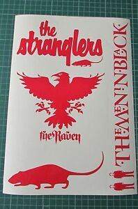 THE-STRANGLERS-RED-LOGO-RAVEN-RAT-MIB-CAR-STICKERS