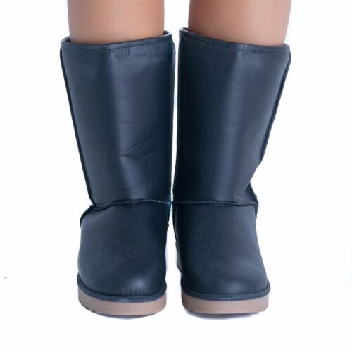 Womens Warm Fur Lined Snug Ankle Calf Boots Flat Ladies Winter Shoes Snow Ski