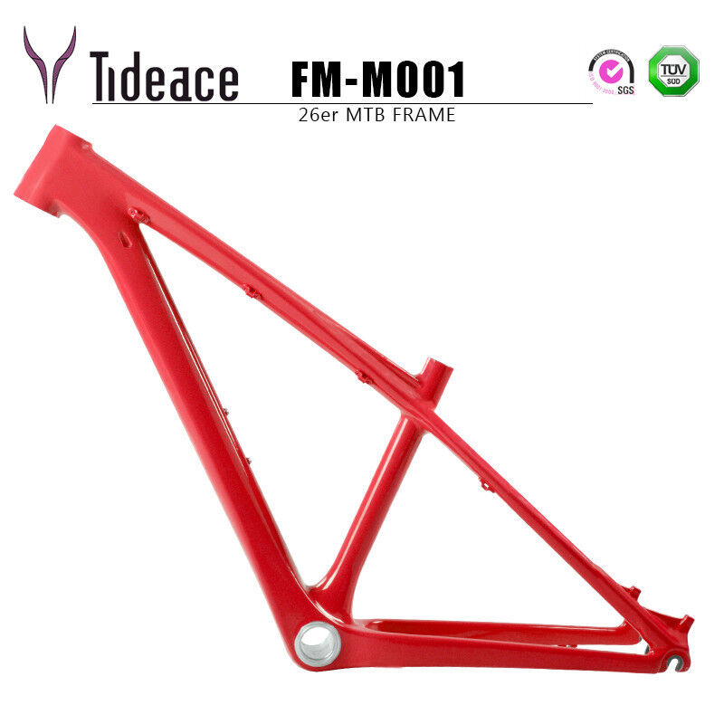 26er 14 T800 integrale in fibra di autobonio Mountain Bicicletta CORNICI BB92 LUCIDA personalizzato