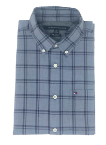 Tommy-Hilfiger-Short-Sleeve-New-York-Fit-Men-039-s-Multi-Color-Casual-Shirt