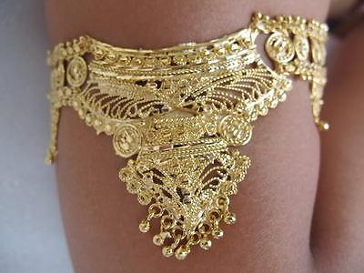 Armschmuck Bollywood Armband Bauchtanz  Indische Hochzeit Schmuck - vergoldet