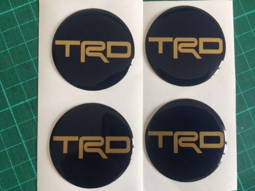 TOYOTA TRD tappo centrale cerchi in lega a Cupola Adesivi X4 MR2 GT86 Blue /& GOLD 55mm