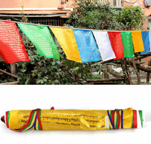 Details about 650cm BLESSED 20-FLAGS WIND HORSE PRAYER FLAG: keep evil away  Ksitigarbha mantra