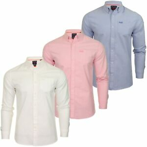 Superdry-Mens-Shirt-039-Classic-Oxford-University-039-Long-Sleeved