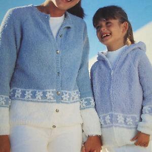 Knitting Pattern Ladies Hooded Jacket : Girls and Ladies Cardigan and Hooded Jacket Knitting ...