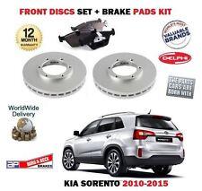 FOR KIA SORENTO 2.2 CRDi 2.4i 2/2010->NEW FRONT BRAKE DISCS SET + DISC PADS KIT
