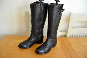 CLARK-S-034-MULLIN-CLOVE-034-ITALIAN-BLACK-LEATHER-KNEE-HIGH-BOOTS-UK-5D-RRP-150-00