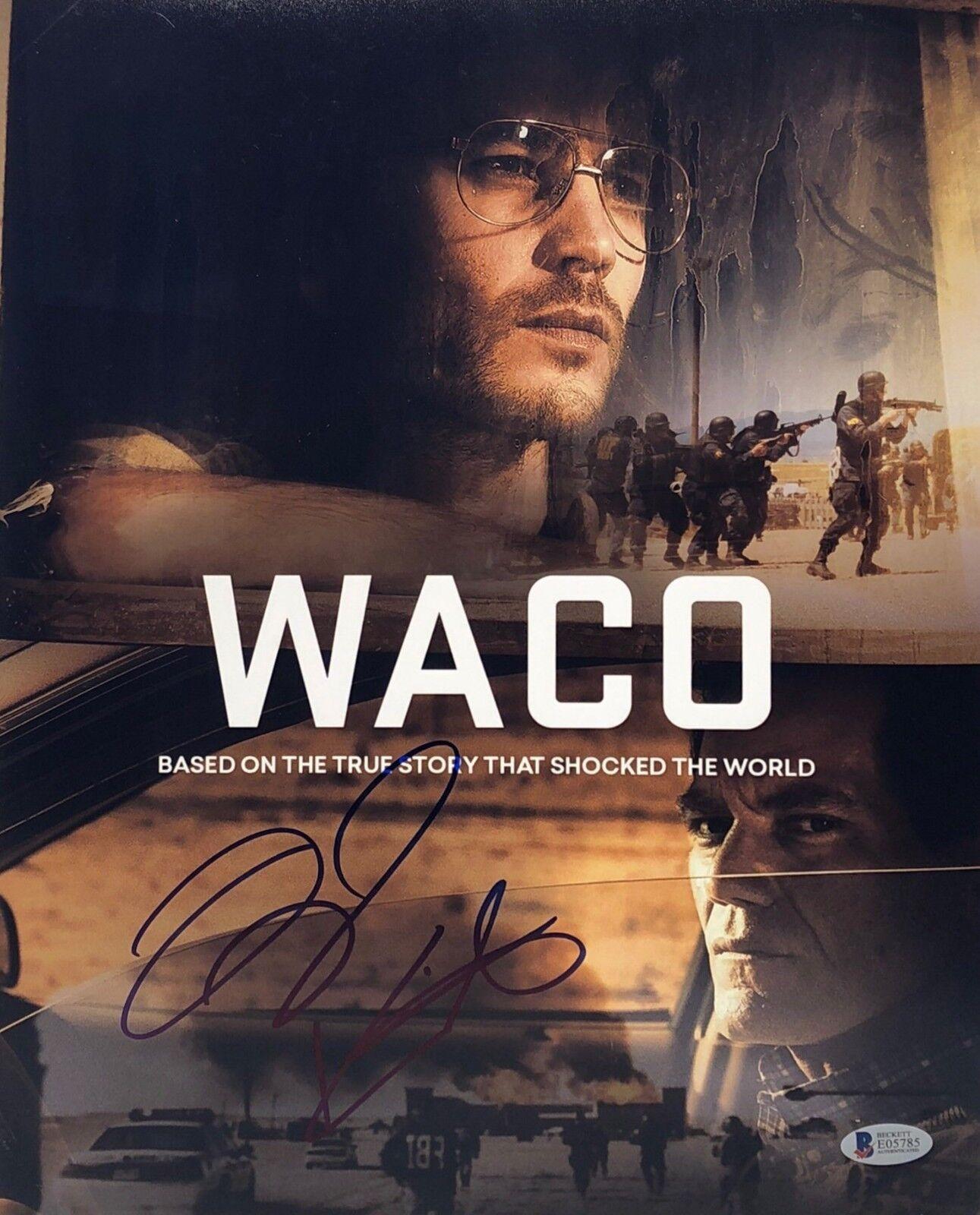 Taylor Kitsch Signed 'Waco' 11x14 Photo BAS Beckett E05785