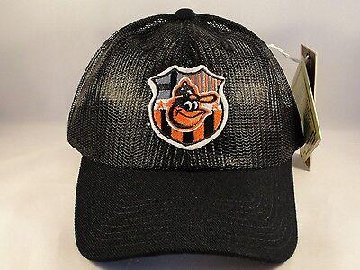 huge selection of 04ed8 91942 Baltimore Orioles MLB Vintage Trucker Snapback Hat Cap Black