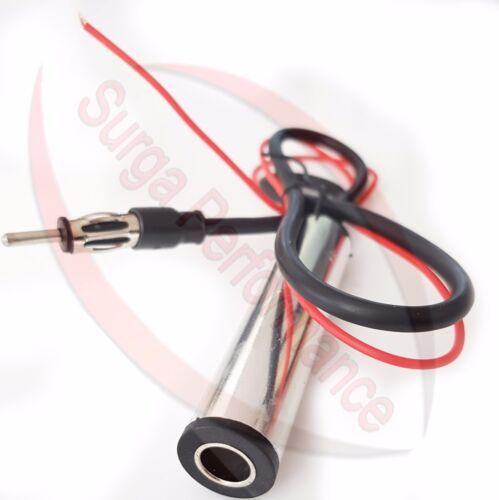 Bmw e30 convertible antena acero inoxidable auto antena para guardabarros amplificador incl.