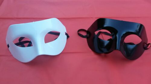 Plain Black//White Eye Masks  Masquerade Face Mask Party//Halloween