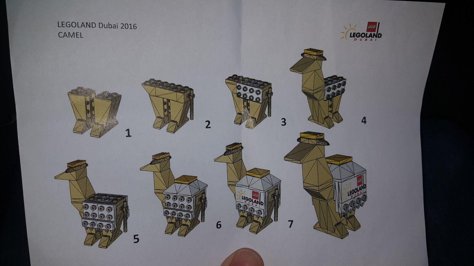 LEGO LEGO LEGO LEGOLAND Dubai 2016 Rare Employee Gift Camel absolute Rarität 34d73d