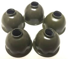 5 Air Schrader Valve Caps Tire Military Willys Jeep WW2 Parkerized Color Brass