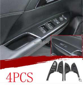 For HONDA ACCORD 2014-17 ABS Carbon Fiber Style Window Lift Switch Button Panel