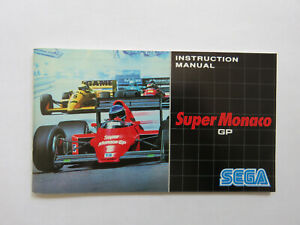 Acheter Pas Cher Officiel Super Monaco Gp Manuel D'instruction-sega Mega Drive (pal) Ln-afficher Le Titre D'origine ModéLisation Durable