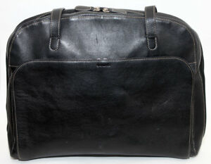 3310b73a1ea1 Lodis Audrey Black Leather Business Bag Tote Zip Top w  Organization ...
