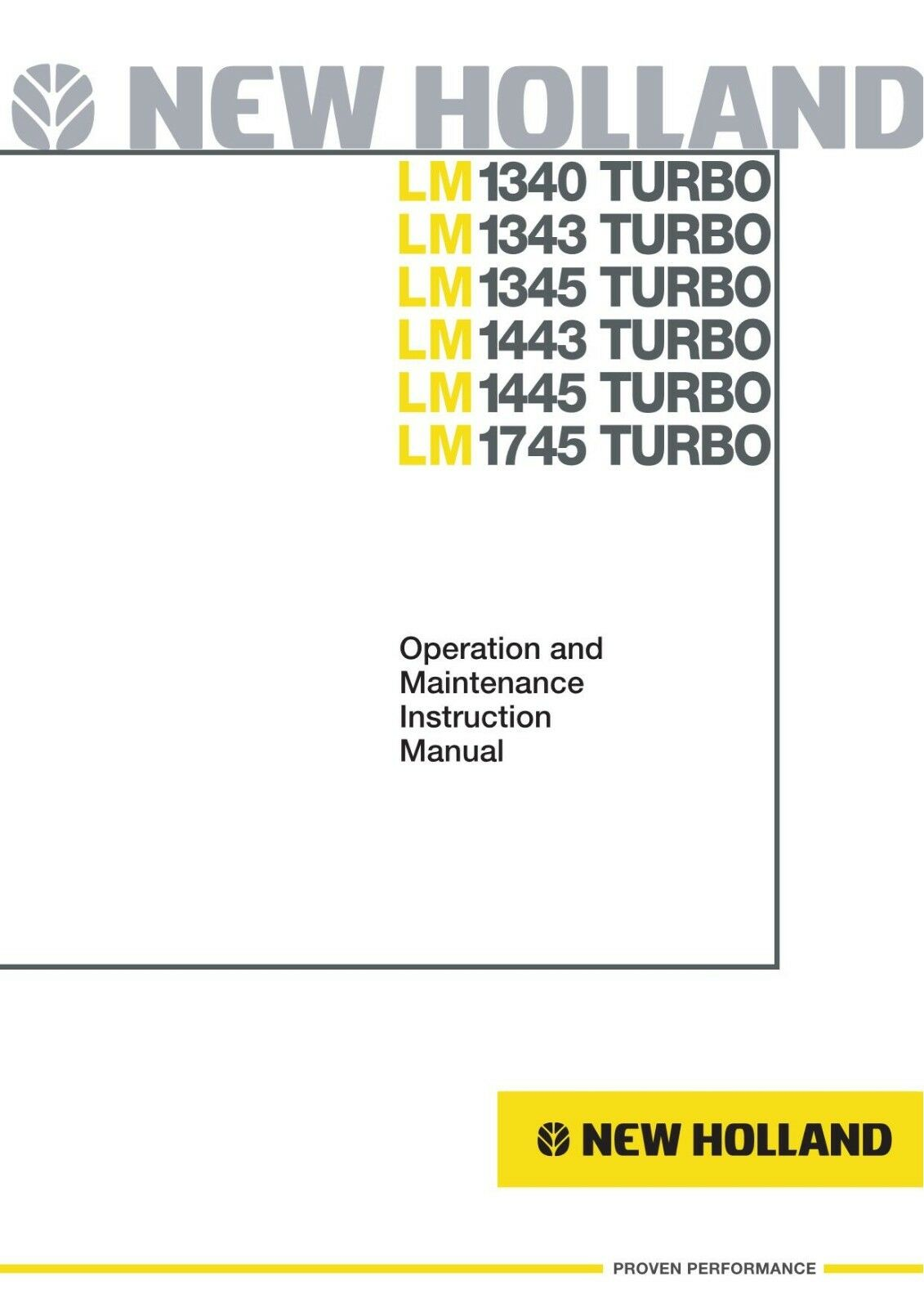 Business & Industrial NEW HOLLAND LM1340 LM1343 LM1345 LM1443 ...