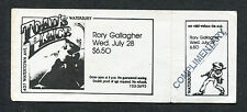 Original Rory Gallagher unused full 1982 concert ticket Toad's Place Waterbury