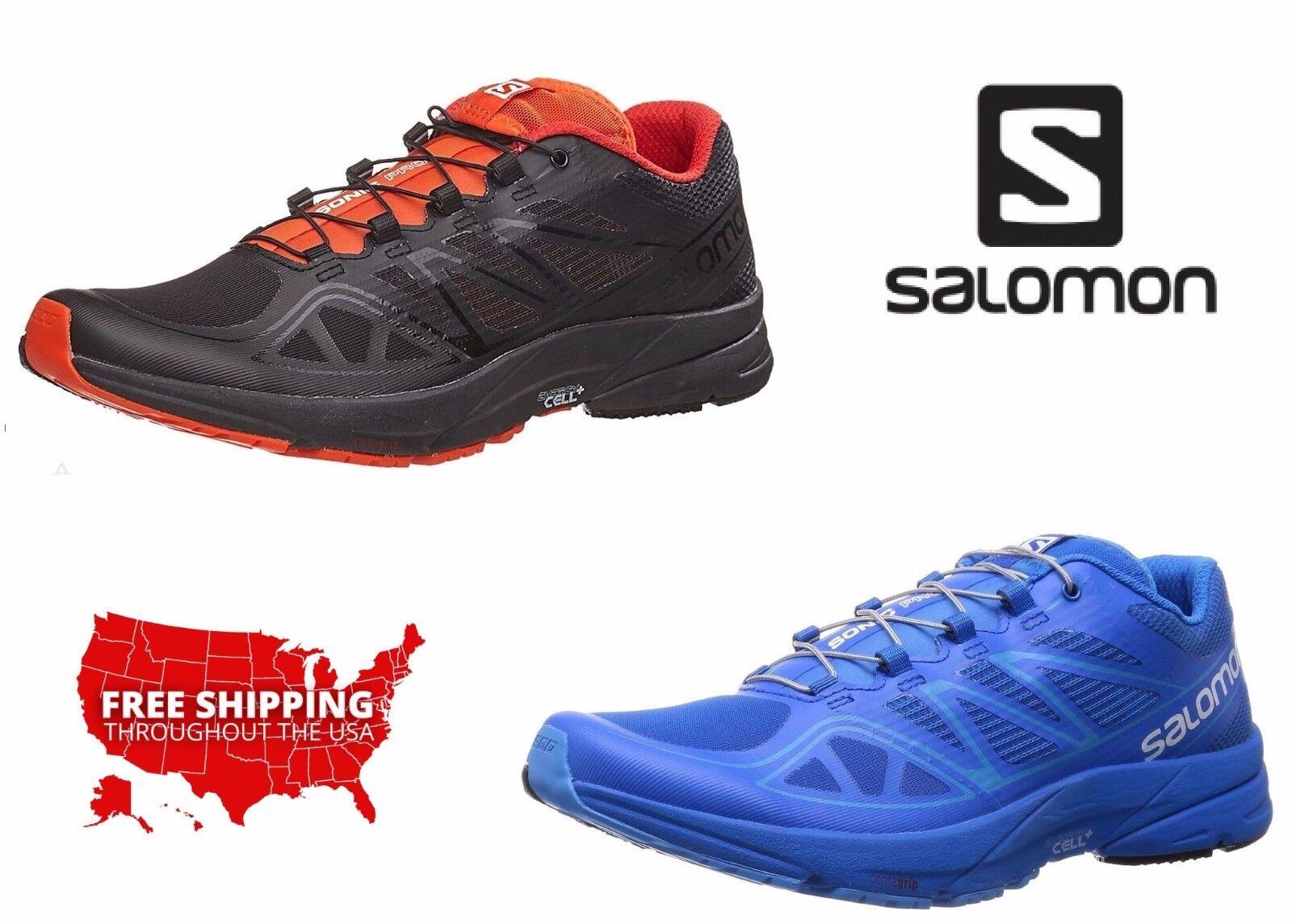 Salomon Men Athletic Turnschuhe Sonic Pro Running Cross Training Pull On schuhe NEW